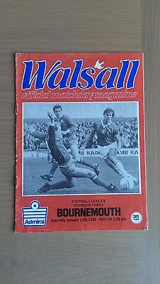Walsall V Bournemouth 1982-83