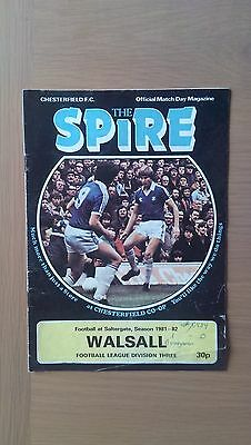 Chesterfield V Walsall 1981-82
