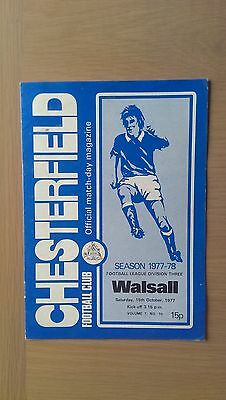 Chesterfield V Walsall 1977-78