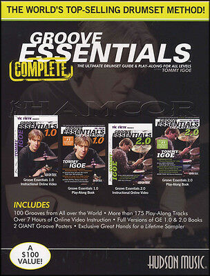 Groove Essentials Complete by Tommy Igoe 2 Books, Audio & Video Set 1.0 2.0