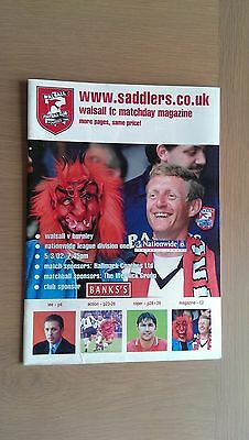 Walsall V Burnley 2001-02