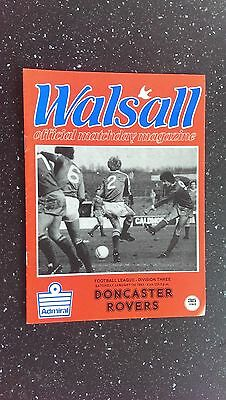 Walsall V Doncaster Rovers 1982-83