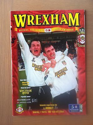 Wrexham V Burnley 1996-97