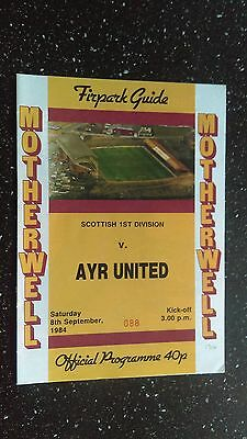 Motherwell V Ayr United 1984-85