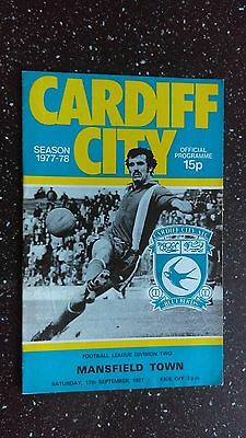Cardiff City V Mansfield Town 1977-78