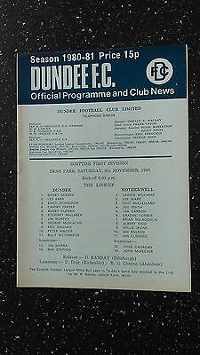 Dundee V Motherwell 1980-81