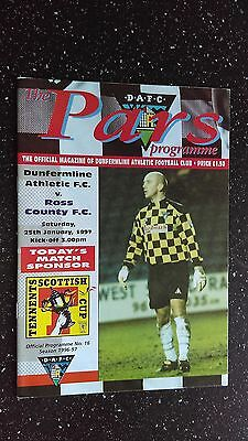 Dunfermline Athletic V Ross County 1996-97