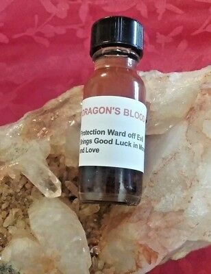 Dragons Blood Oil Protection Oil Banishing Luck Love Money Attraction Wicca