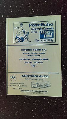 Hitchin Town V Staines Town 1977-78