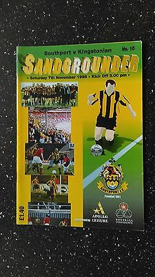 Southport V Kingstonian 1998-99
