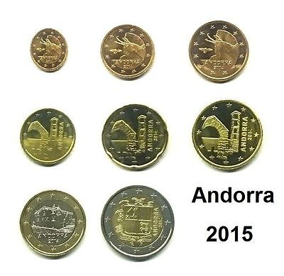 Andorra KMS 2015 - 1 Cent ---> 2 Euro