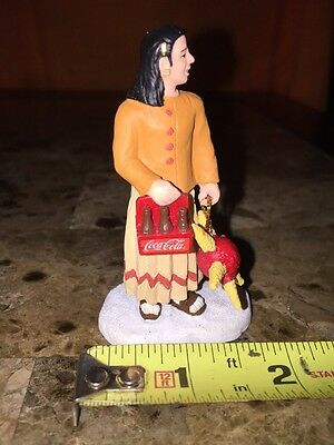Coca Cola Town Square Collection 2001 Maybe Native American Woman