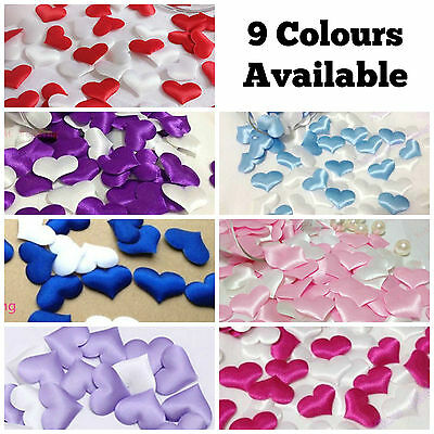 Satin Padded Fabric Love Heart Arts And Crafts Embellishment Card Decoration Diy