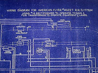 "BLUEPRINT for ""WIRING DIAGRAM FOR AMERICAN FLYER #4622T R.R. SYSTEM""....REPLICA!"