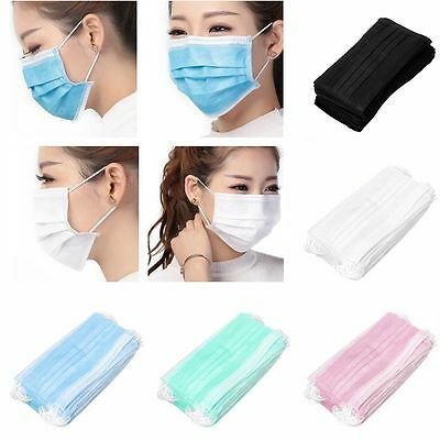 50Pcs Anti-Dust Set Clean Hygienic Medical Mouth Masks Disposable Ear Loop
