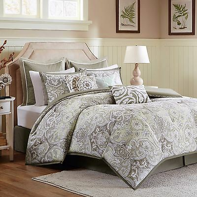 Harbor House™ Cecil Reversible King Comforter Set in Taupe