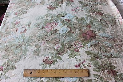 Beautiful Shabby French Antique Chateau Curtain Cotton Fabric Panel c1870-1880*