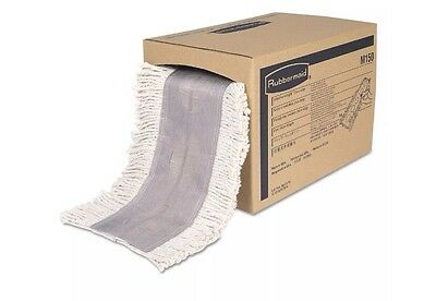Rubbermaid M150 Cut To Length Dust Mops, White, Cut-end 5 X 40 Ft, 1 Box