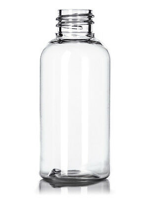 2oz Clear Boston Round Glass Bottles with High Quality Metal Caps