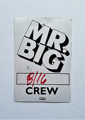 RaRe 1990 MR. BIG concert rock RUSH billy sheehan Backstage PASS