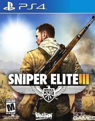 New Sniper Elite III 3 (PS4, Playstation 4) Sealed US ENGLISH