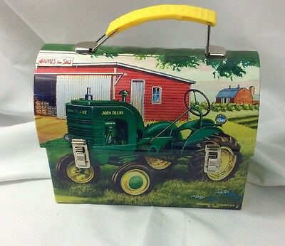 MINIATURE JOHN DEERE METAL LUNCH BOX Edward Schaefer 1997