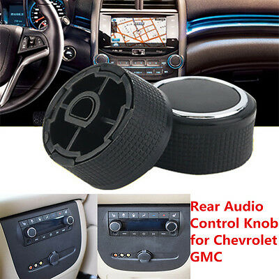 For Chevrolet Silverado 07-13 GMC Cadillac Rear Radio Volume Control Knob Black