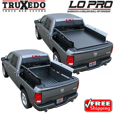 TruXedo Lo Pro Tonneau Roll Up Bed Cover for 09-17 Dodge Ram 1500 w/ RamBox 5.7'