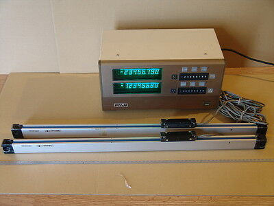 MITUTOYO DRO PG-12L LINEAR SCALES AT11-500 Machinist tool maker 2 AXIS