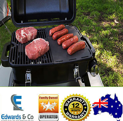 Portable Gas BBQ Grill Outdoor Folding Caravan Camping Barbecue Picnic S/Steel