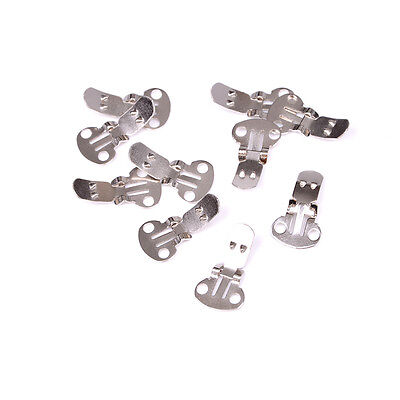 10-20Pieces Blank Stainless Steel Shoe Clips Clips on Findings for Wedding Craft