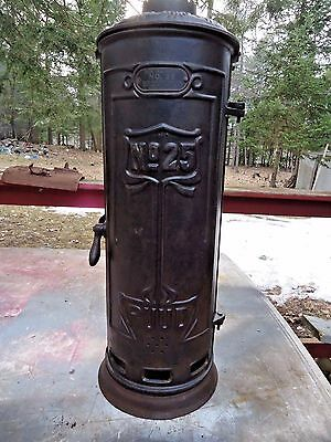 Antique Rudd No.25 Cast Iron Embossed Water Heater Surround,steampunk,blacksmith