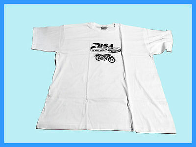 "Bsa White Tee Shirt ""bsa The Most Popular Motorcycle In The World"" Size 3Xl"