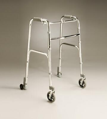 Care Quip - Lightweight Walking Frame with Front Swivel and Rear Wheels -840W