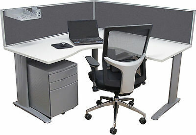 Office Desk Divider/ Privacy Screen- Grey or Red