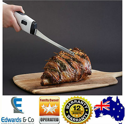 Electric Carving Knife Carving Roast Meat Knife Twin Blade Stainless Sunbeam New