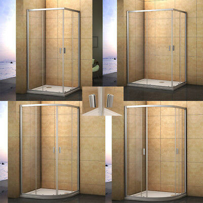 Aica Corner Entry Quadrant Shower Enclosure Tray Cubicle Screen Glass Door ND