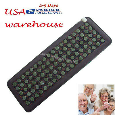 USA Natural Jade Tourmaline Stones Infrared Heating Mat Full Body Massage
