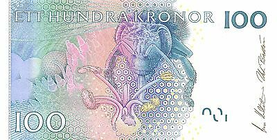 Sweden  100  Kronor  2001  P 52a  Uncirculated Banknote