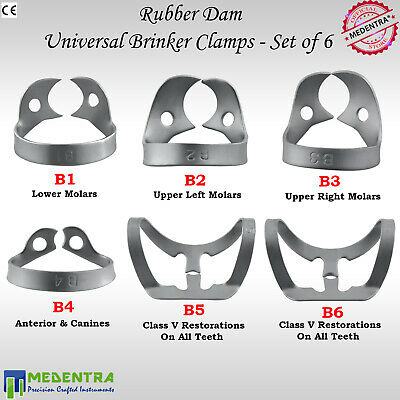 X3 BRINKER Rubber Dam Clamp Universal Clamps Upper Premolar Metal Clamp Anterior