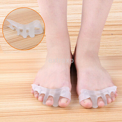 Orthotic Toe Straightener Blue Gel Silicone Separator Hammer Toe Bunion 1 Pair