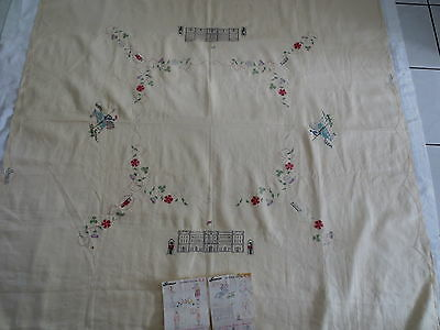 Semco Irish Linen Tablecloth Crown Design C.2 Embroidery Needlework + Instructio