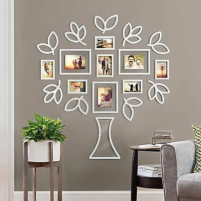 New Family Tree Photo Picture Collage Frame Set Wall Art Home Decor