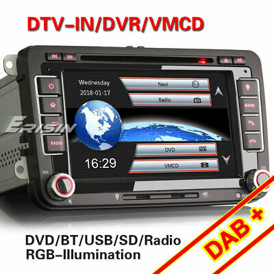 """8"""" Android 6.0 Autorradio for VW GPS DVD 3G DAB+ RDS DVR WIFI AUX USB SD 5911VGS"""