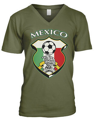 Mexican Swag Mexico Pride Flag Colors National Style Team Men/'s V-Neck Sport Tee