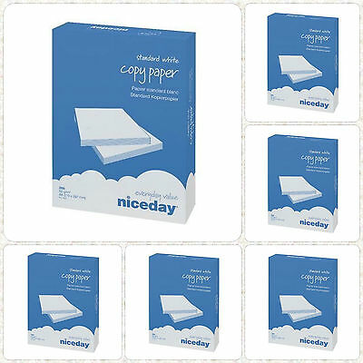 A4 80gsm Photo Copier Printer Printing Office Copy Paper 2500 Sheets/5 ream/1Box