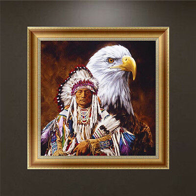 Animal DIY 5D Diamond Embroidery Eagle Painting Cross Stitch Craft Home Decor