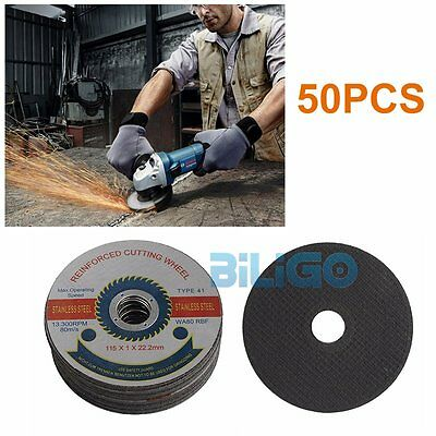 "50pcs 115mm 4.5"" Cutting Slitting Discs Stainless Steel Angle Grinder【UK】"