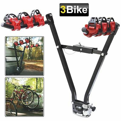 3 Bike Universal Car Tow Bar Mounted Cycle Bicycle Carrier Rack Towbar New
