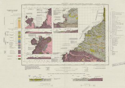 Boscastle geological survey sheet 322 North Cornwall Coast Tintagel 1969 map